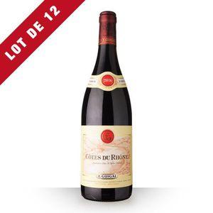 VIN ROUGE Lot de 12 - Guigal 2016 AOC Côtes du Rhône - 12x75