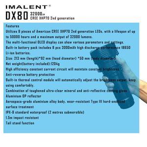 LAMPE DE POCHE banbando®IMALENT DX80 XHP70 LED Lampe de poche LED