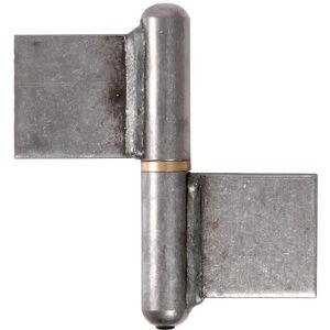 CHARNIÈRE - PAUMELLE Paumelle à souder - 100 mm - Noeud plat - Clemenso