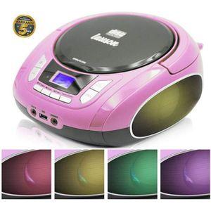 RADIO CD CASSETTE NXT965 Radio Lecteur de CD avec lumières multicolo