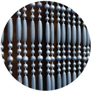 RIDEAU DE PORTE Rideau de porte en perles grises Frejus 100x230 cm