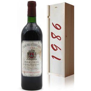VIN ROUGE Coffret Château Clos Beauregard 1986 Vin Rouge 75c