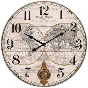 Horloge Carte Du Monde