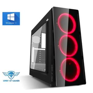 UNITÉ CENTRALE  Ordinateur Pc Gamer Deathmatch Red AMD A8 9600 - M