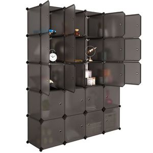 ARMOIRE DE CHAMBRE Armoire de Rangement 20 Cubes en Plastique Etagère