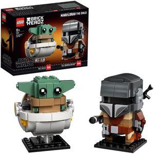 ASSEMBLAGE CONSTRUCTION LEGO® BrickHeadz™ Star Wars™ 75317 - Le Mandalorie