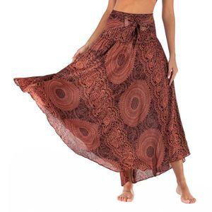 JUPE Femmes Longue Hippie Bohème Gypsy Boho Fleurs Tail