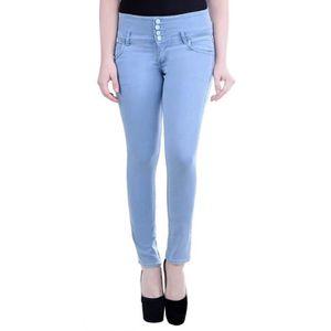 "Femme Noir Skinny Stretch Jeans Longueur 28/"" Neuf ref 546"