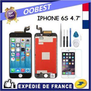 ECRAN DE TÉLÉPHONE VITRE TACTILE + ECRAN LCD POUR IPHONE 6S NOIR + OU