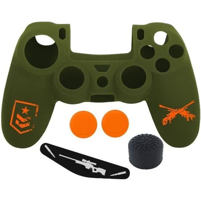 Subsonic - Housse en silicone - Kit de customistaiot FPS pour manette PS4