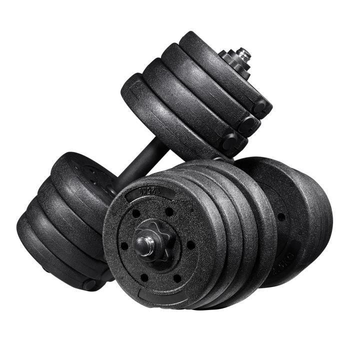 Kit haltere musculation Poids Ajustable 30KG