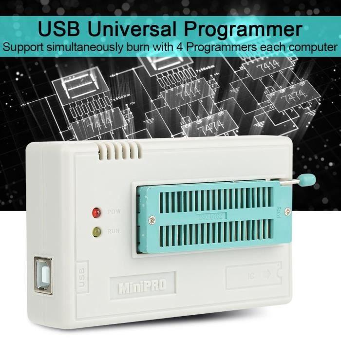 Tl866ii Plus Programmeur universel Usb pour Eeprom Flash 8051 Avr Mcu Gal Pic avec adaptateur 10