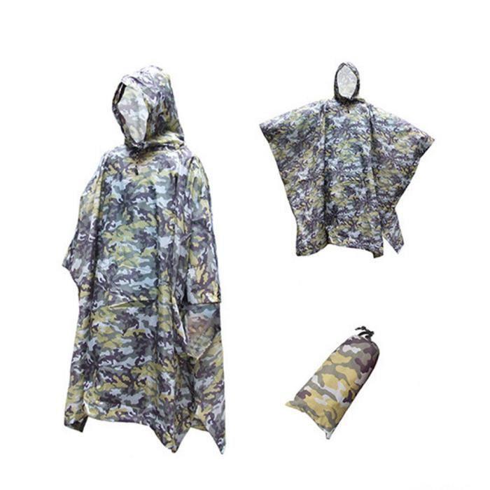 Tente de couverture de poncho imperméable multifonction tactique militaire LQB2574