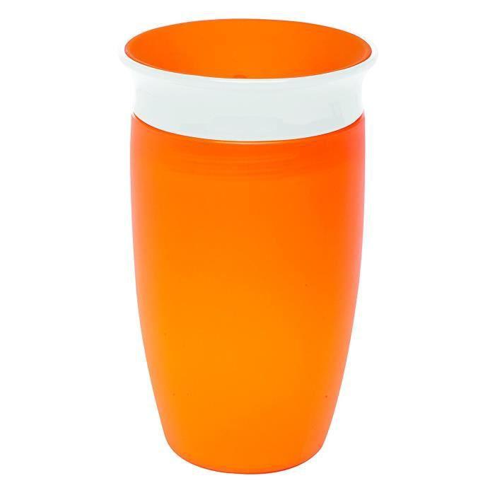 Munchkin Tasse Miracle 360ᵒ à petites gorgées - orange - 296ml