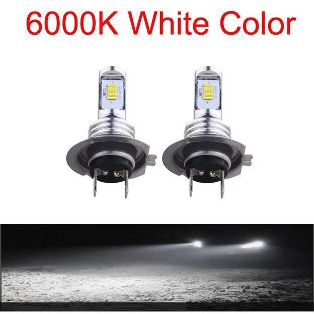 2PC H4 H7 H11 Universel 6500K Moto Phare Antibrouillard Lampe CSP LED Ampoule Hi Lo Faisceau Sans Fil Installat H1-6000K -WM1144