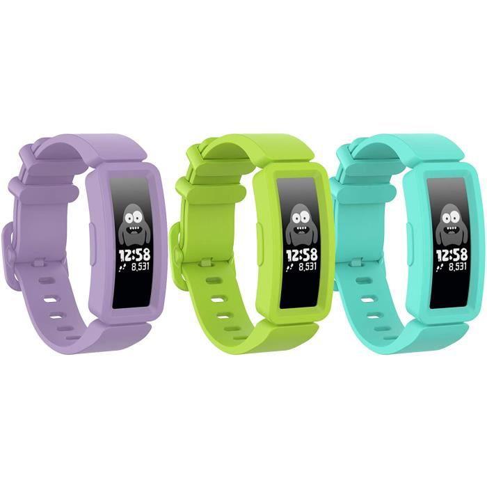BRACELET DE MONTRE VENDU SEUL Ruentech Bracelet de rechange compatible avec bracelet d'activité Fitbit Ace 2 enfant - en 377