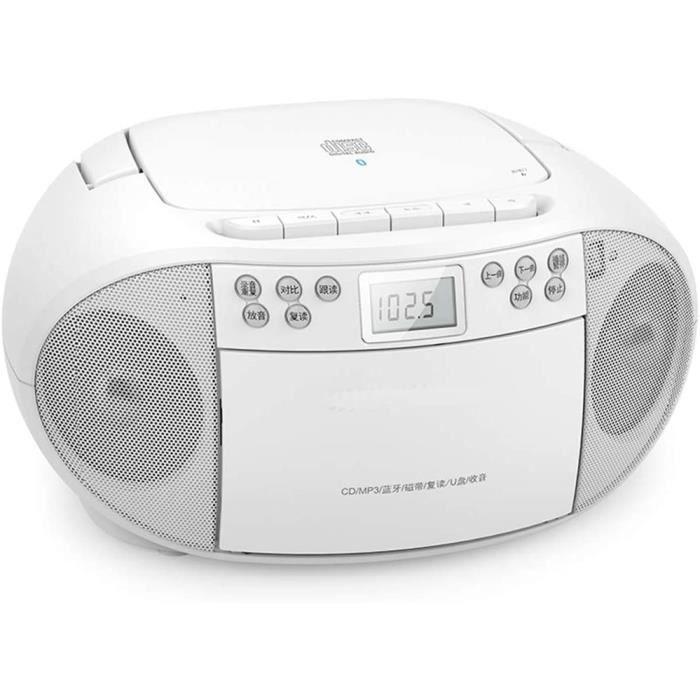 GaoF Enregistreur de Cassette rétro, Fonction de Lecture CD de boîte de Boom, Radio FM, Musique AUX in Play à partir de lecteurs MP3