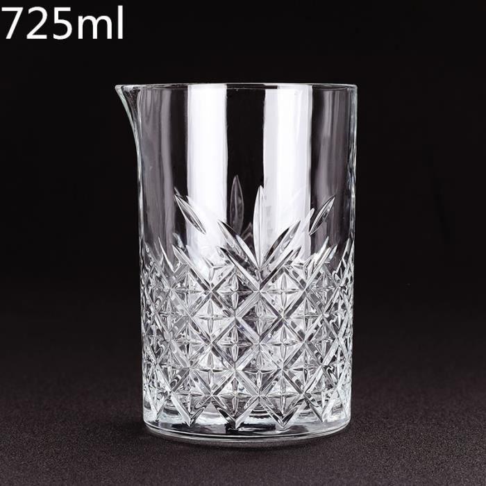 Verres à cocktails,Outil de barre de verre de mélange de Cocktail de cristal de Style japonais de modèle de losange de - Type 1pcs-D
