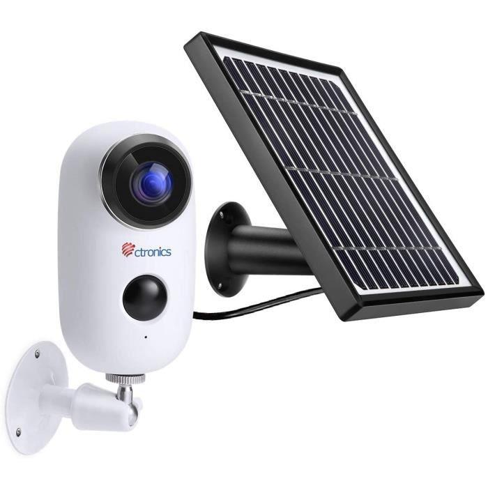 Caméras de surveillance Ctronics (1080P) Caméra de Surveillance Batterie Rechargeable et Panneau Solaire, Caméra Surveil 22689