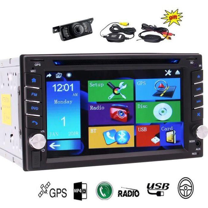 Retour sans fil Caméra Eincar 6.2inch GPS voiture stéréo avec double din numérique bluetooth voiture Autoradio CD Lecteur DVD Win 8