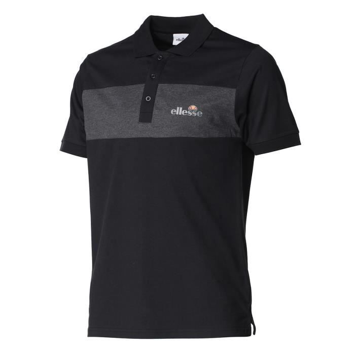ELLESSE Polo manches courtes ALBO CUT AND SEW - Homme - Noir