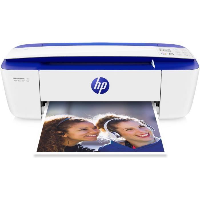 Hp Deskjet 3760 All in One Imprimante multifonctions couleur jet d'encre 216 x 355 mm (original) A4 Legal (support) jusqu'à 4