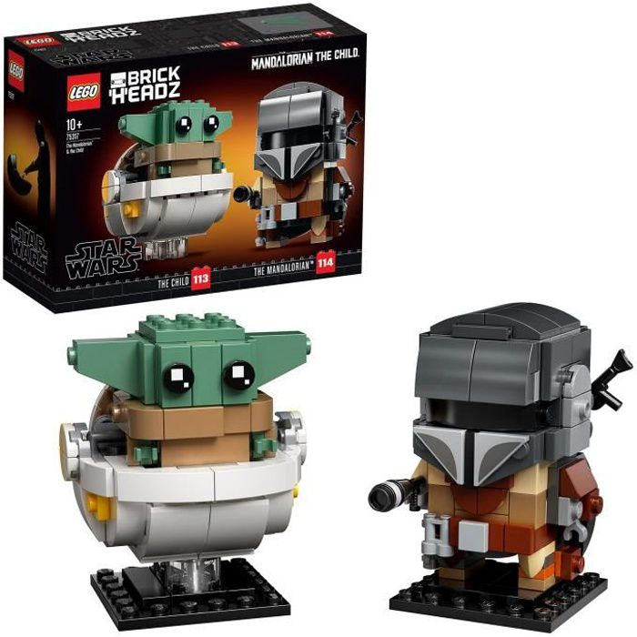 LEGO® BrickHeadz™ Star Wars™ 75317 - Le Mandalorien et l'Enfant - Mandalorian & The Child