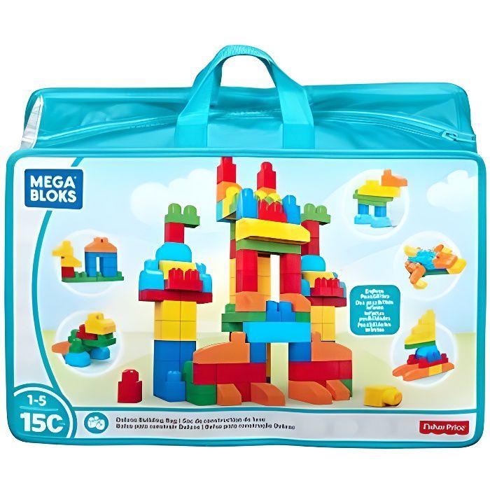 Mega Bloks Sac Blocs Construction Deluxe, 150 briques, jouet pour bébé et enfant de 1 à 5 ans, CNM43 CNM43