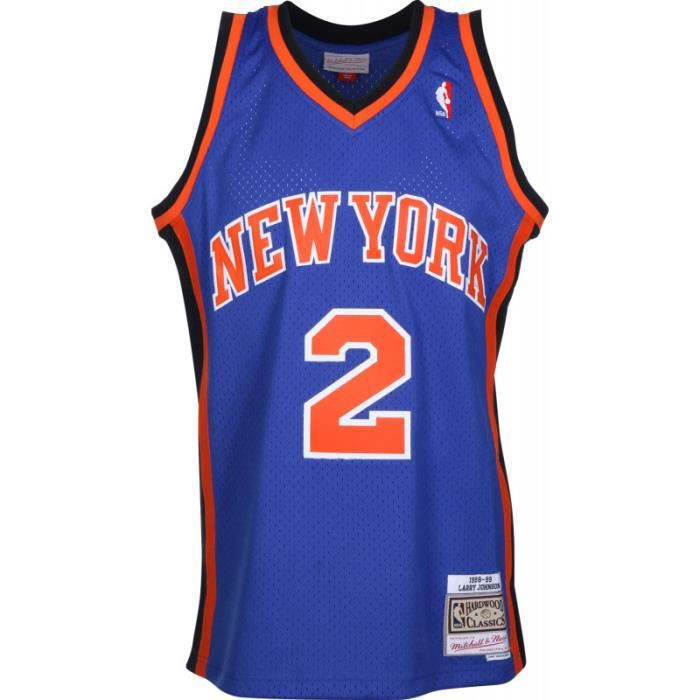 Maillot NBA Larry Johnson New York Knicks 1998-99 Mitchell amp ness swingman Hardwood Classics bleu