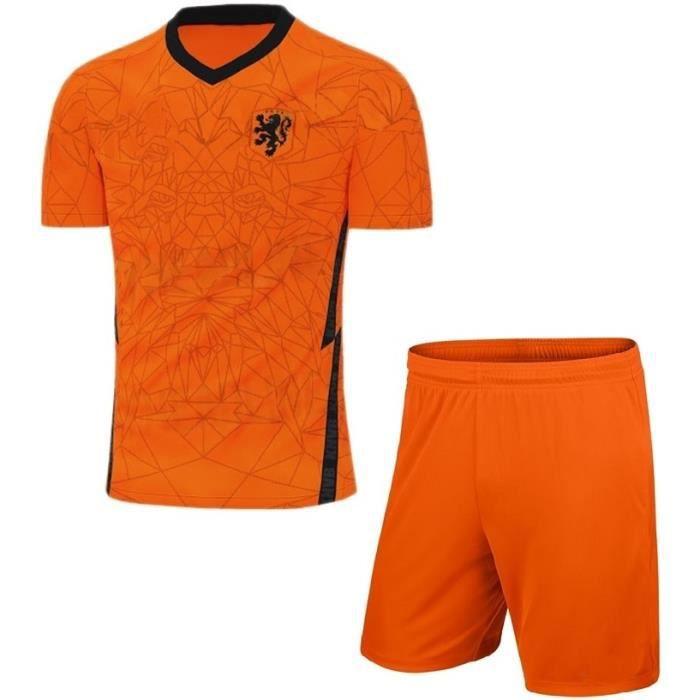 Nouveau Pays-Bas Euro 2020 Maillot de Foot Short Football Soccer Suit Maillot Équipe de Hollande pour Homme Enfant Garçon