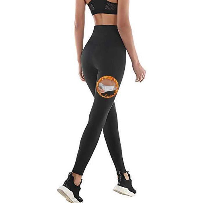 Pantalon de Sudation Femmes, Legging de Sport à Taille Haute en Nano-Matériaux pour Accélérer Transpiration,