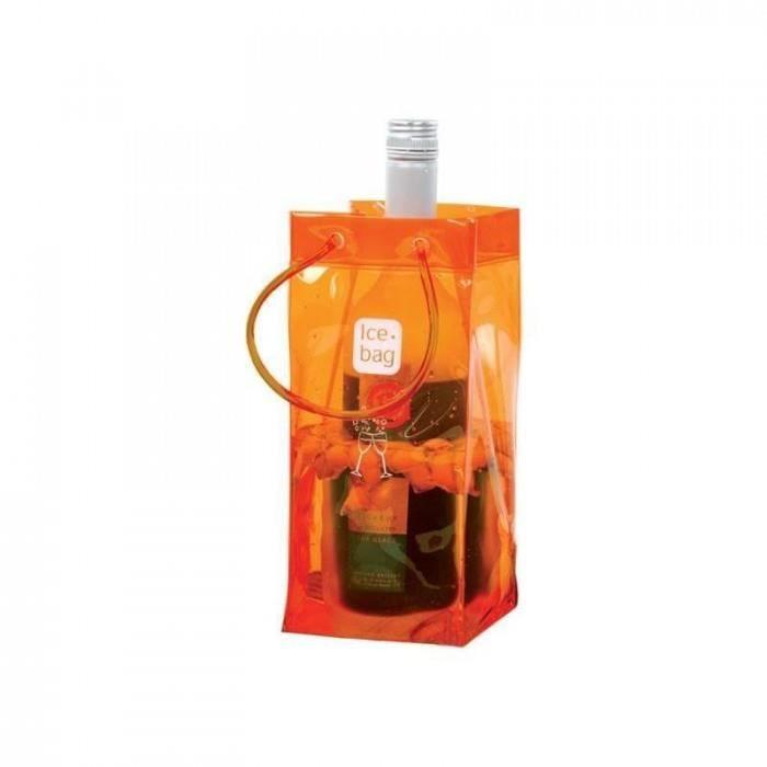 inedit cuisine arts de la table seaux a glace ice bag - 17403 - seau a glace ice bag orange 1 bouteille