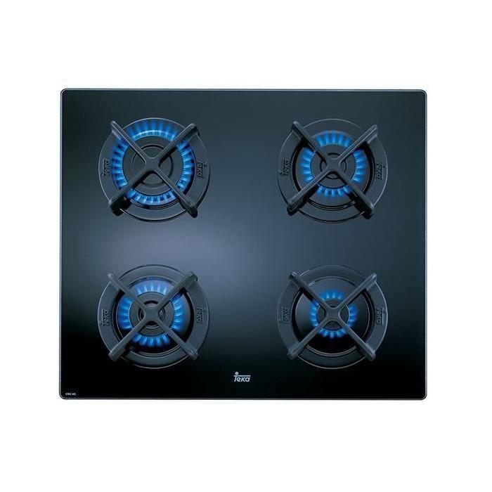 Plaques de cuisson Superbe plaque au gaz teka cgc4g (60 cm) noir (4 feux a gaz)