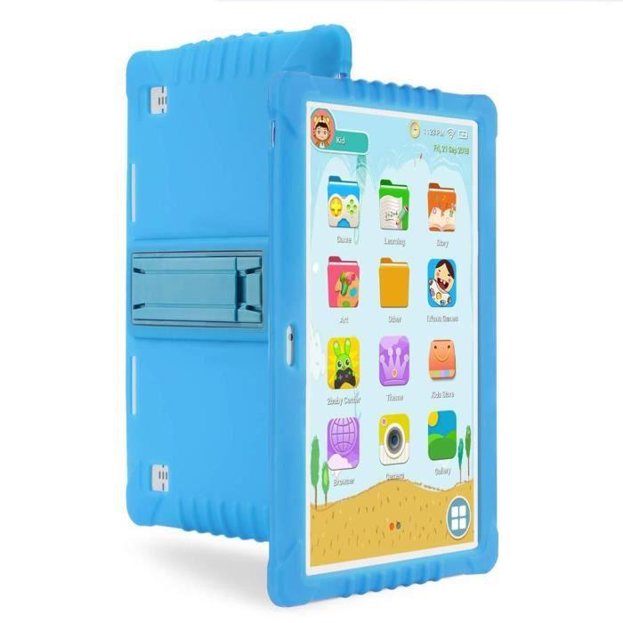 10 pouces 3G déverrouillé quad core enfants Tablet PC APP Android pour l'apprentissage 2+32Go(bleu)