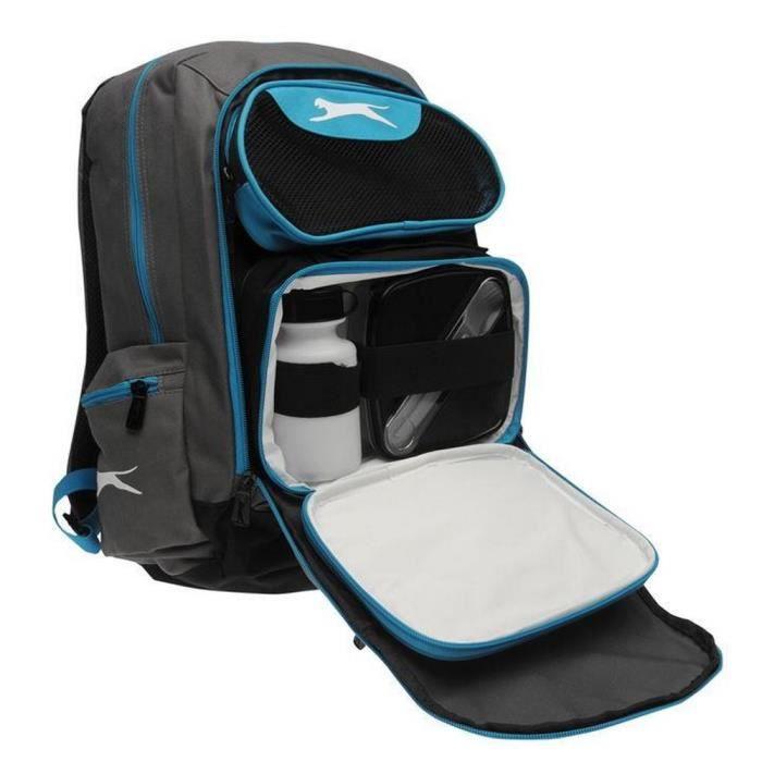 Sac A Dos Gris et Bleu Slazenger Avec Lunch Box