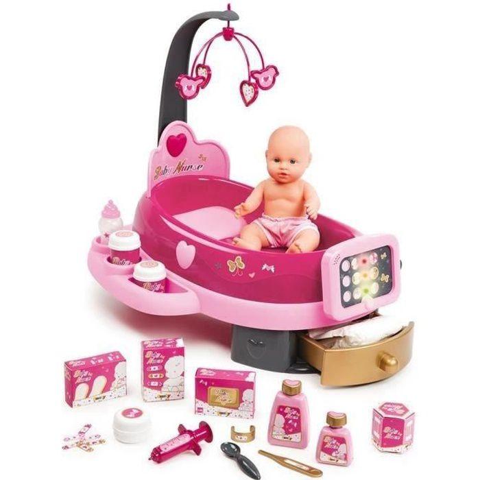 SMOBY Baby Nurse Nursery Electronique +Poupon +Acs