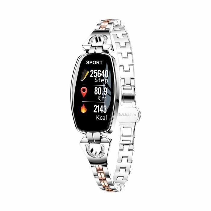 Montre Connectée Femmes Sport Fitness Tracker d'Activité Pression artérielle Moniteur Cardiofréquencemètre Moniteur de Sommeil