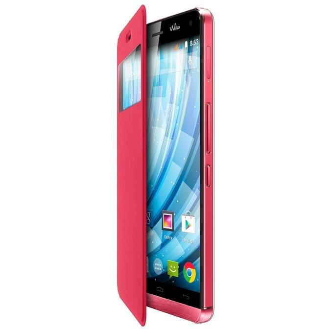 Wiko Folio Stand Case pour Getaway Corail