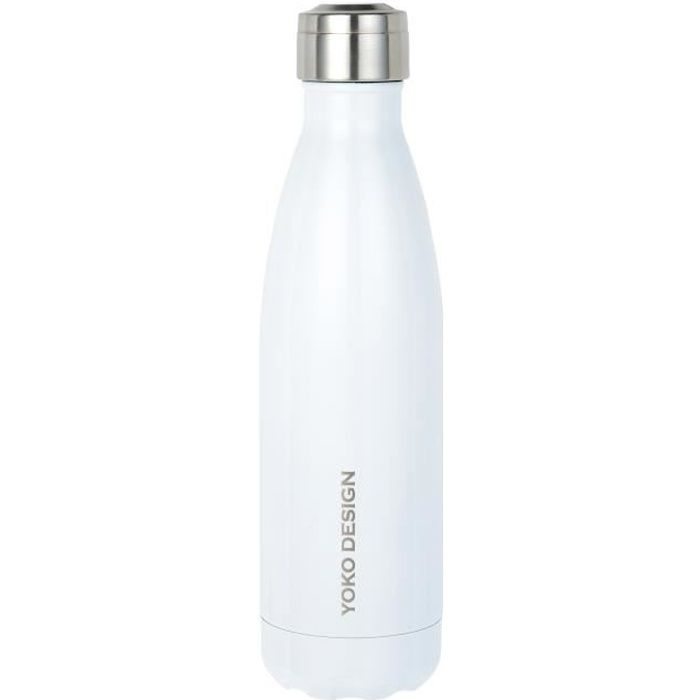 YOKO DESIGN Gourde isotherme Bouteille 500 ml blanche