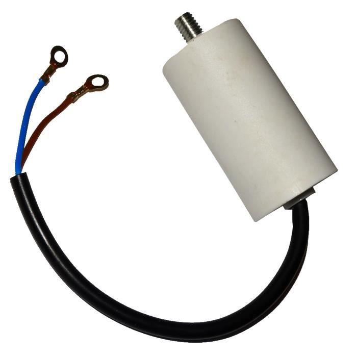 Aerzetix Condensateur Permanent de Travail pour Moteur 16/µF 450V pr/éc/âbl/é /Ø40x70mm /±5/% 3000h C18671