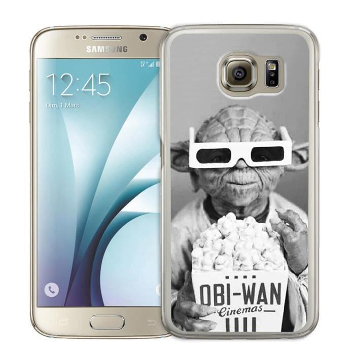 Coque Samsung Galaxy S6 Star Wars Yoda Cinema 3D