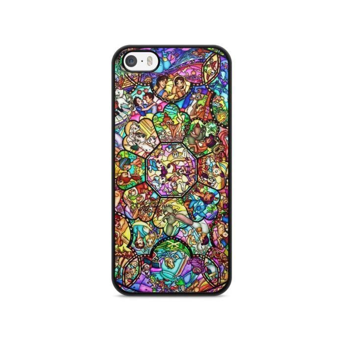 Coque Iphone 5 - 5s - SE Disney Mosaique swag princesse case ...