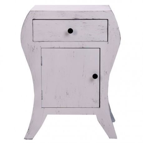 Table de chevet en bois originale patine vieilli gris vical home achat v - Table de chevet originale ...