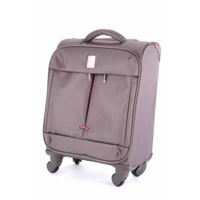delsey valise cabine souple flight 55cm brun rose achat. Black Bedroom Furniture Sets. Home Design Ideas