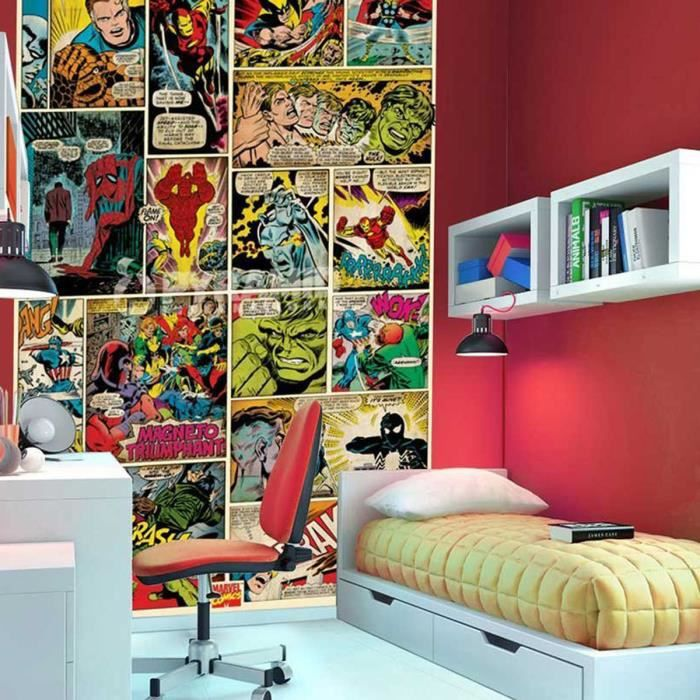 papier peint bd comics marvel achat vente papier peint cdiscount. Black Bedroom Furniture Sets. Home Design Ideas