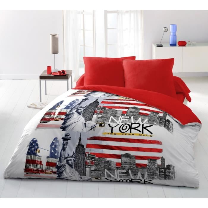 Parure de drap 4 pcs 240x300 new york achat vente for Drap housse new york