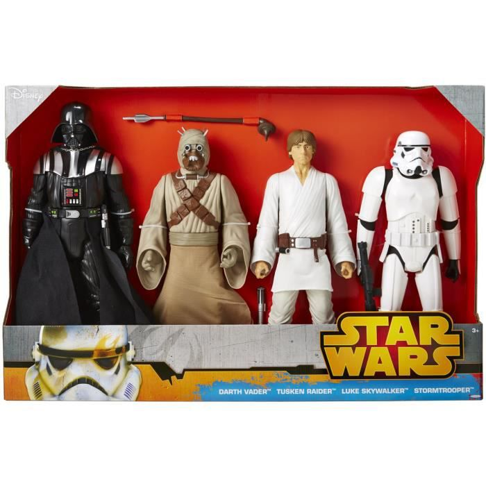 Lot de 4 figurines 50cm star wars classic disney achat - Personnage de starwars ...