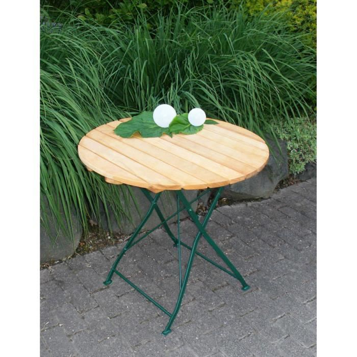 Table ronde salon de jardin bois achat vente table - Salon de jardin table ronde ...