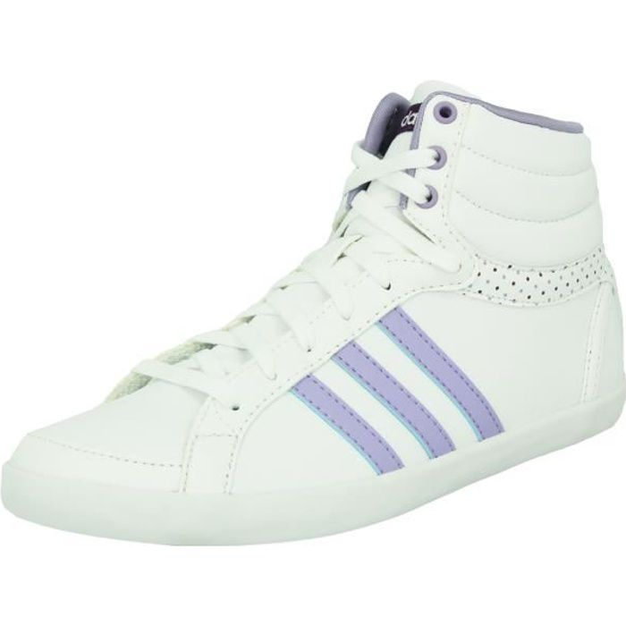 adidas Neo NEO BEQT MID Chaussures Sneakers Mode Femme Blanc Violet Qfu6Dc