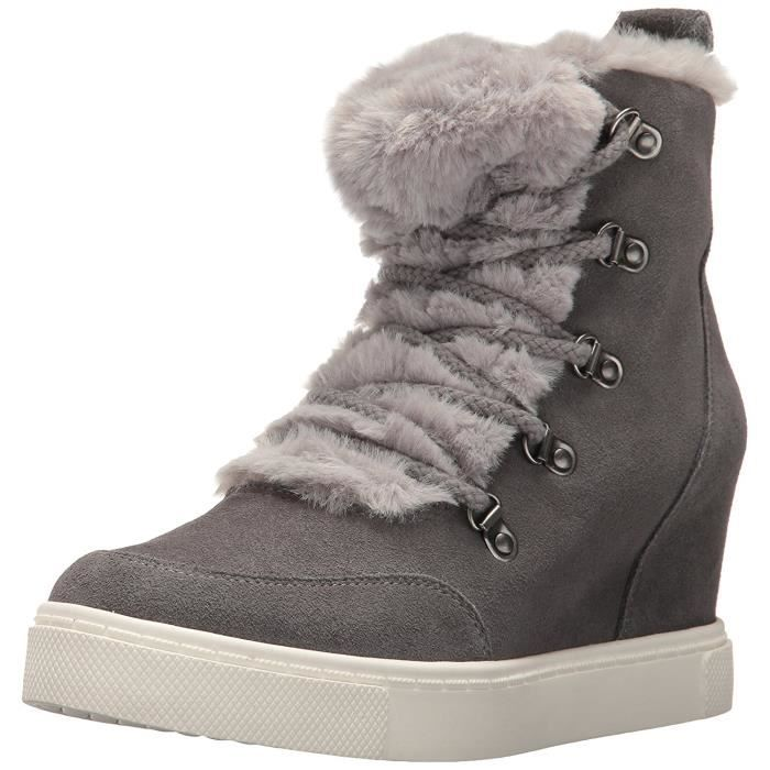 femmes steve madden chaussures de sport a la mode gris gris achat vente chaussures. Black Bedroom Furniture Sets. Home Design Ideas